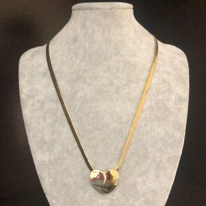 Two Tone Heart ❤️ pendant necklace.
